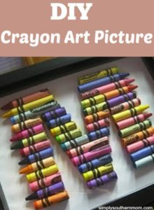 How to Make a D.I.Y. Crayon Initials Picture