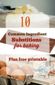 Common Ingredient Substitutions For Baking