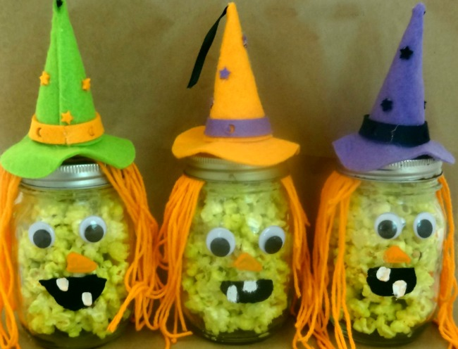 Popcorn Witches Easy Halloween Craft