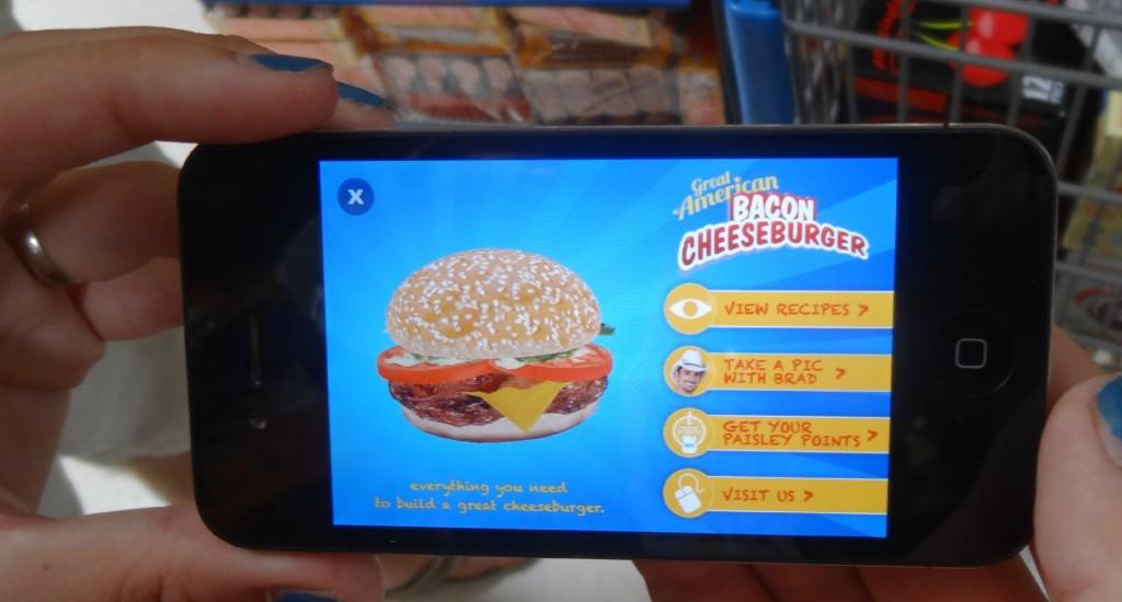 Kraft Blippar App Great American Cheeseburger