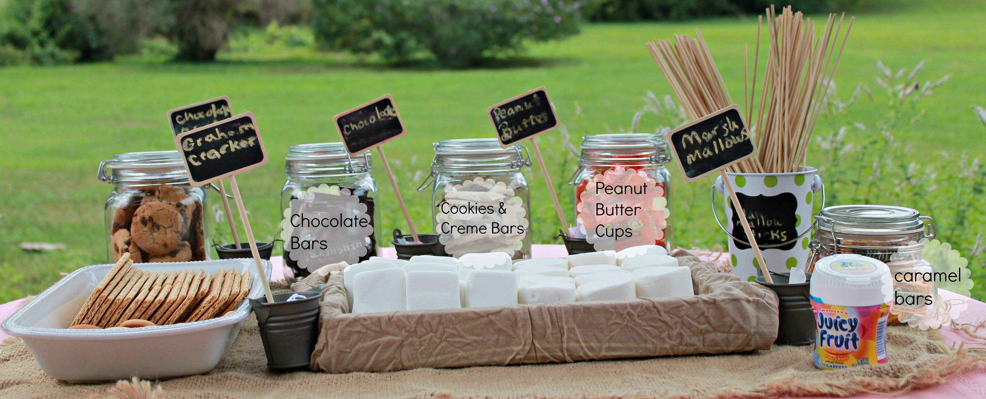How To Make A Simple S Mores And Chewing Gum Bar Simply Southern Mom