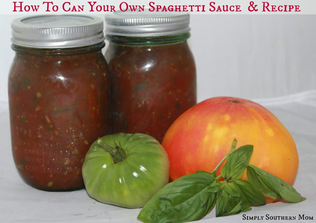 Can your own spaghetti sauce