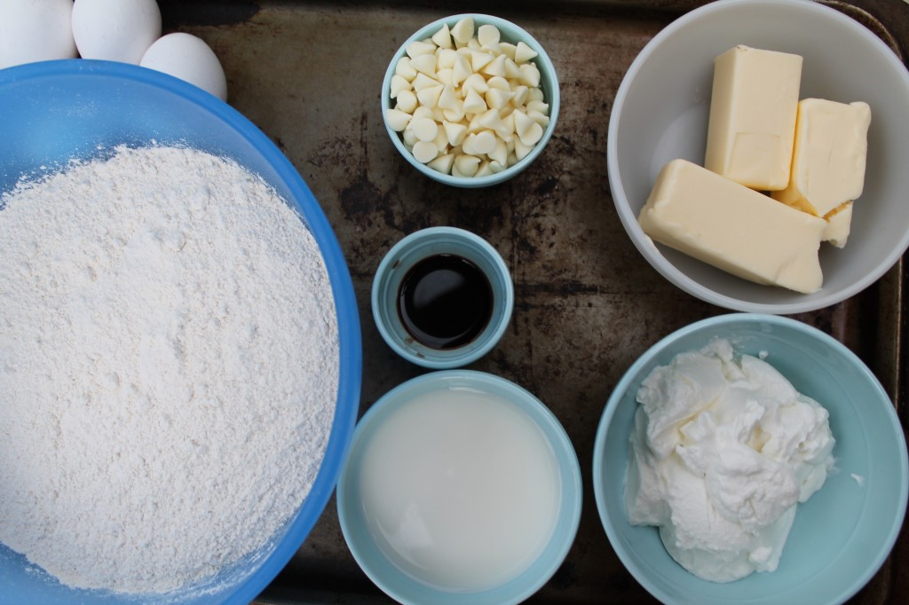Ingredients for Captain America Cake