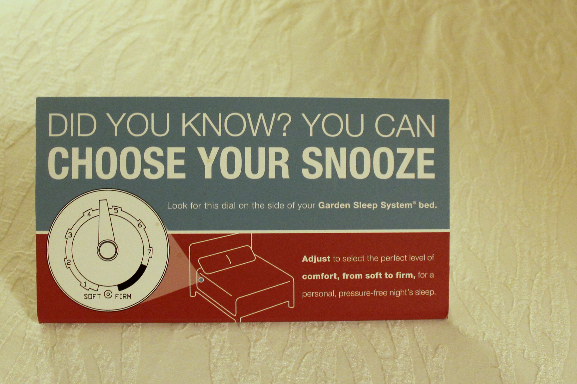 Choose Your Snooze Hilton Garden Inn