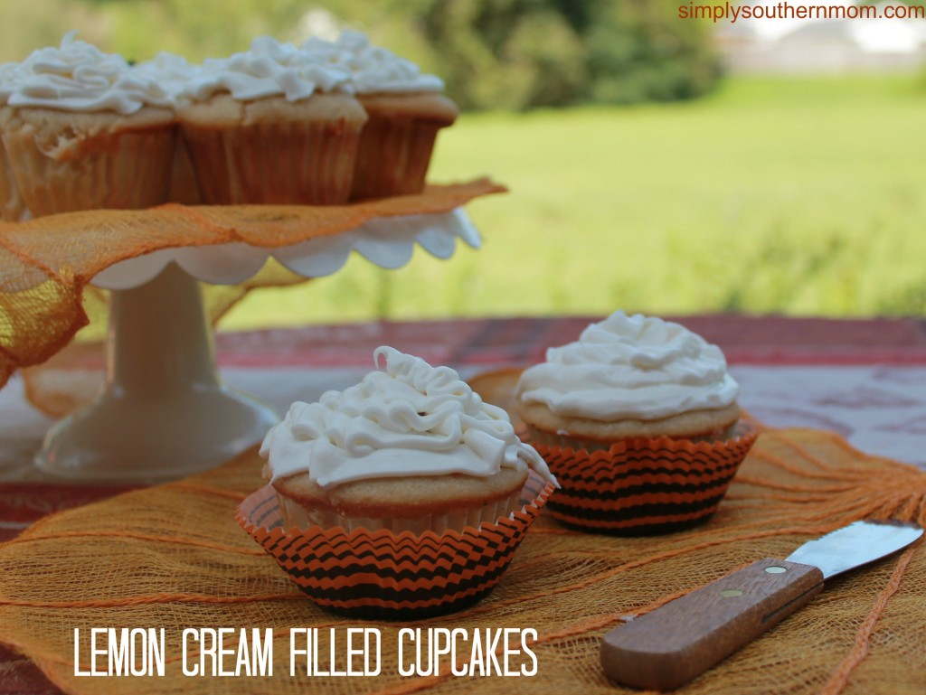 Lemon Cream Filled Cupcakes
