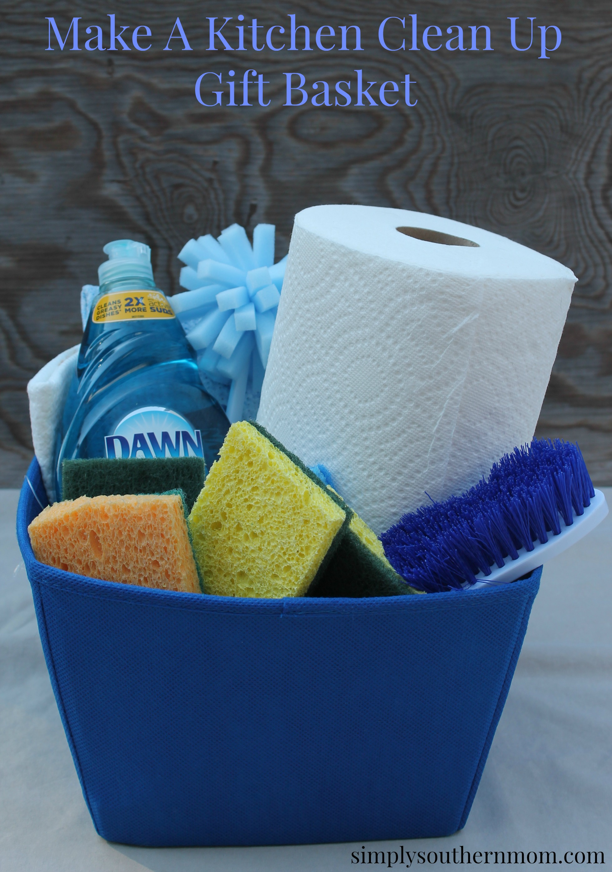 Make A Kitchen Cleaning Gift Basket Simply Southern Mom