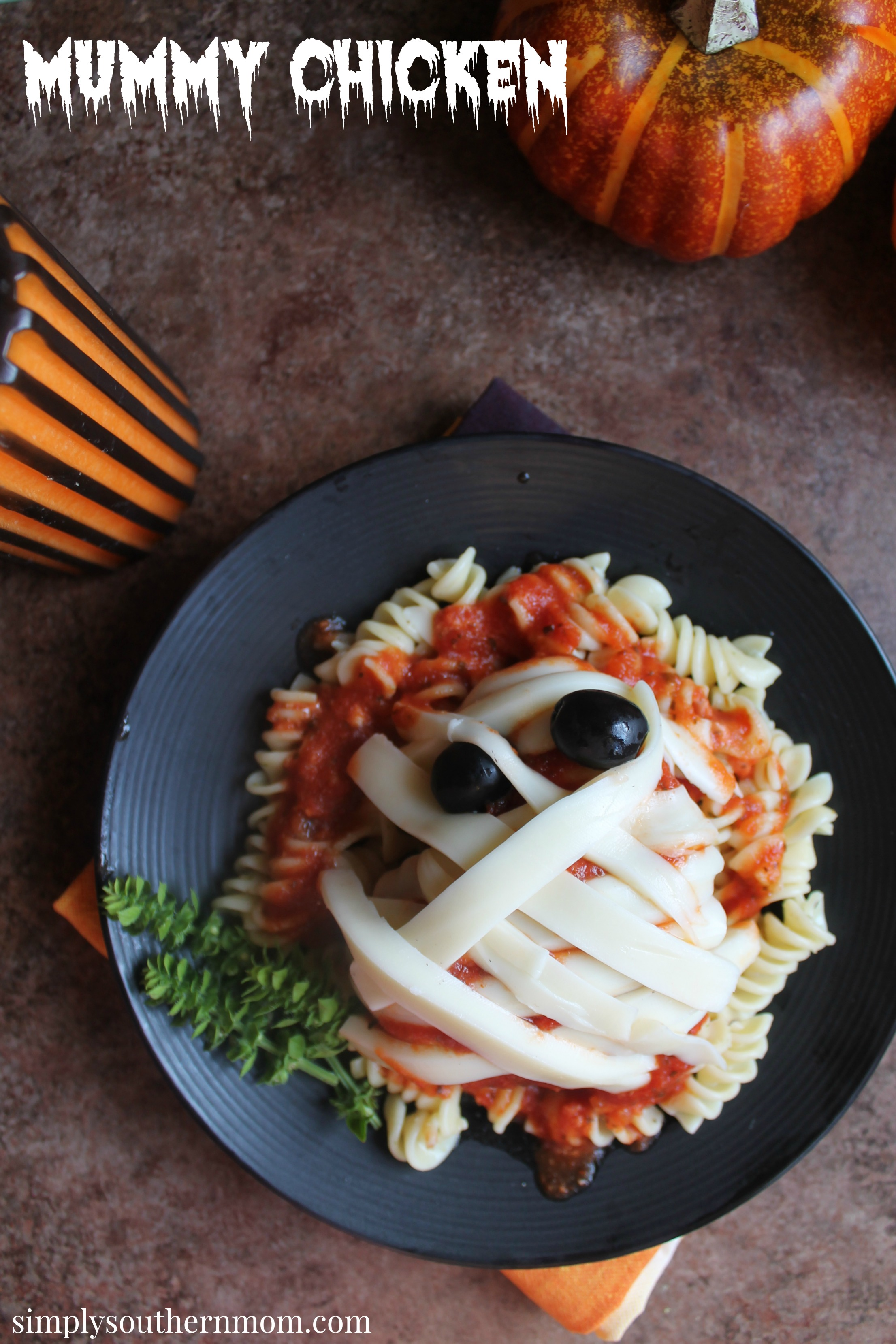 mummy chicken easy gluten free halloween recipe