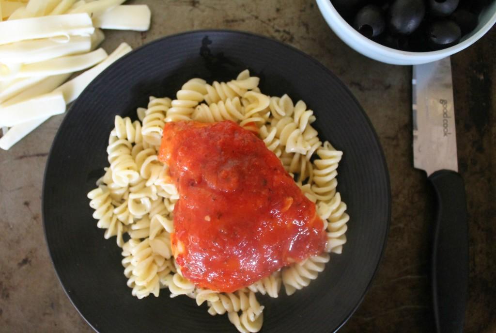 chicken with sauce for mummy chicken