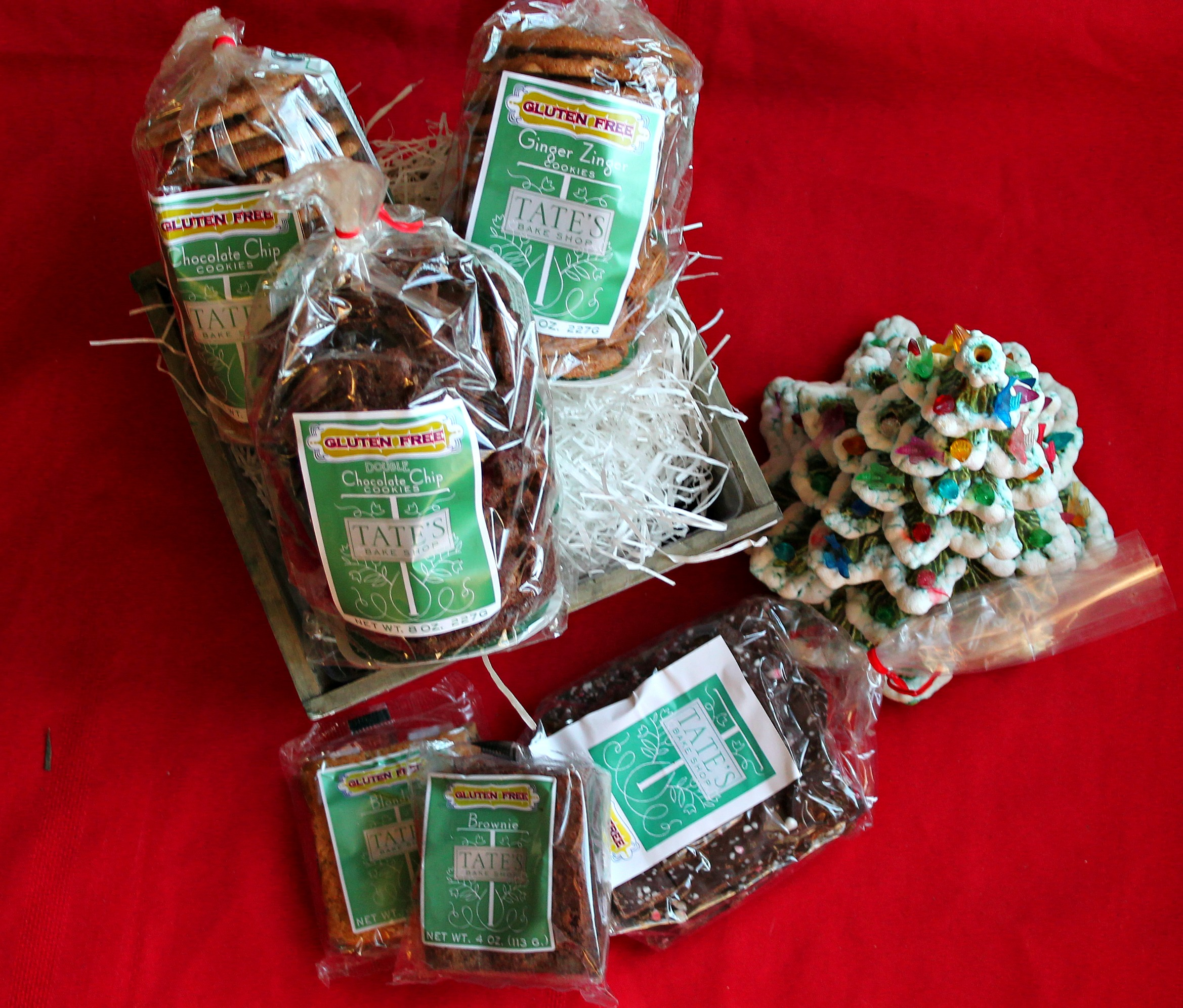 Gluten free goodies with tates bake shop giveaway simply tates gluten free entire gift basket negle