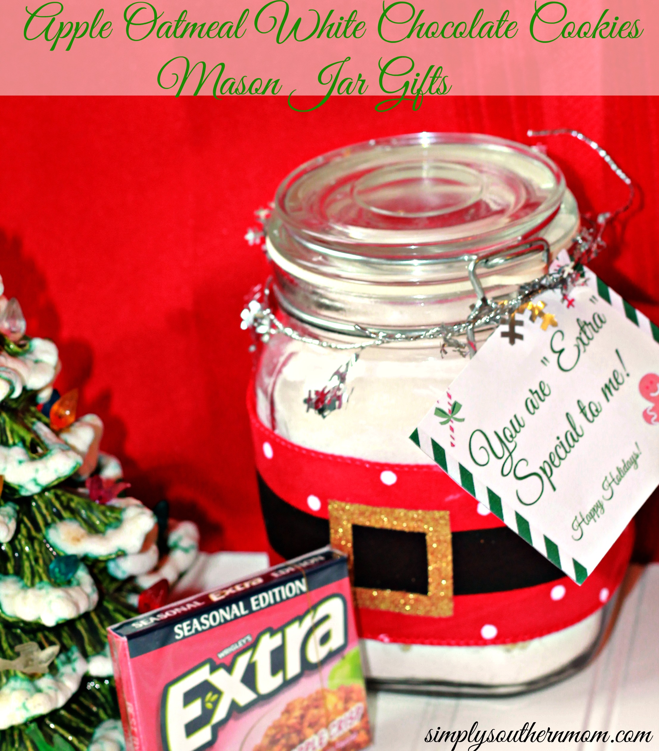 Chewy Apple Oatmeal Cookies: Mason Jar Gifts - Simply Southern Mom
