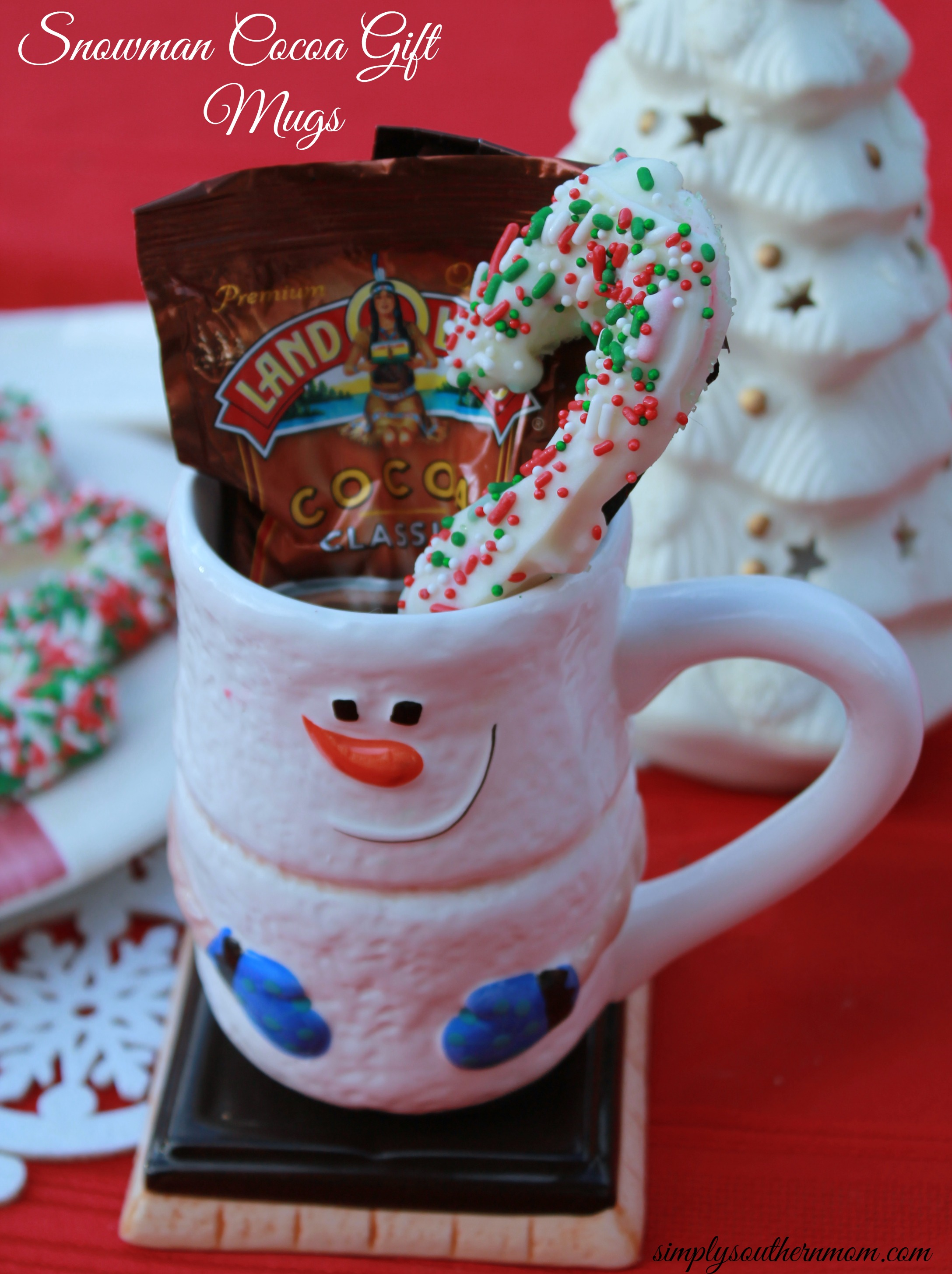 Homemade Christmas Gift: Hot Cocoa Mug with Peppermint Stir Sticks ...