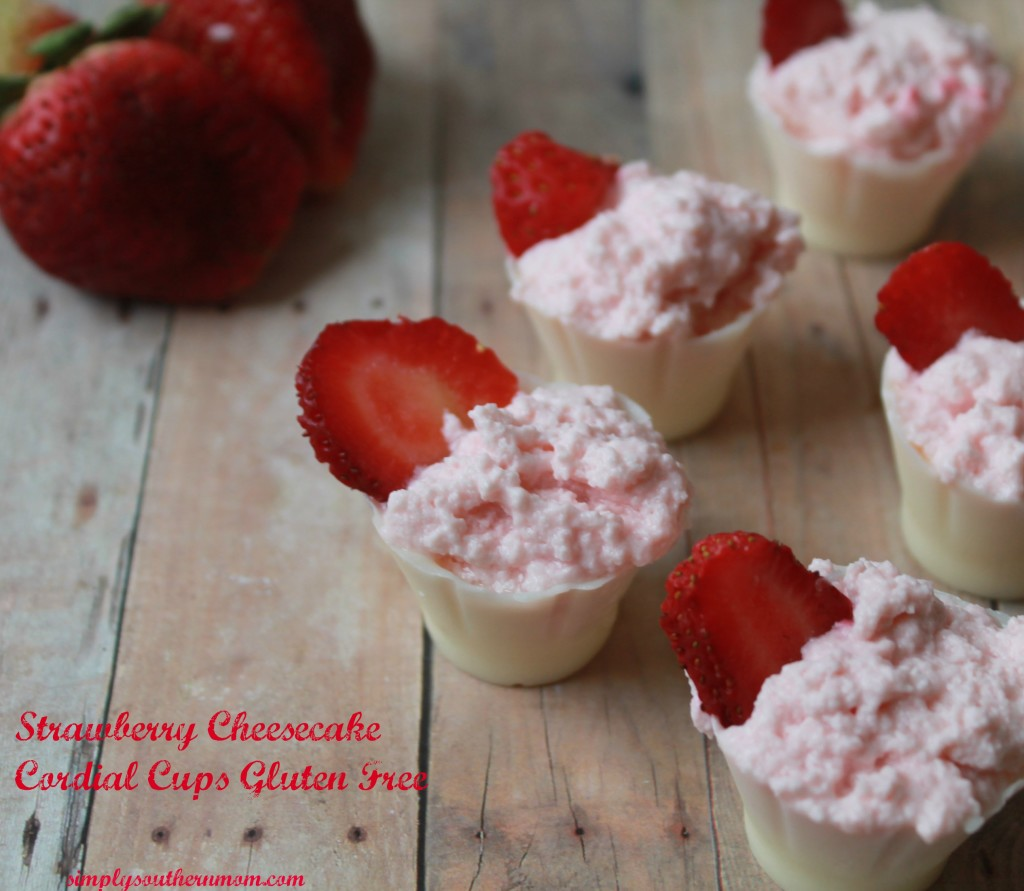 Strawberry Cheesecake Cordial Cups - Simply Southern Mom