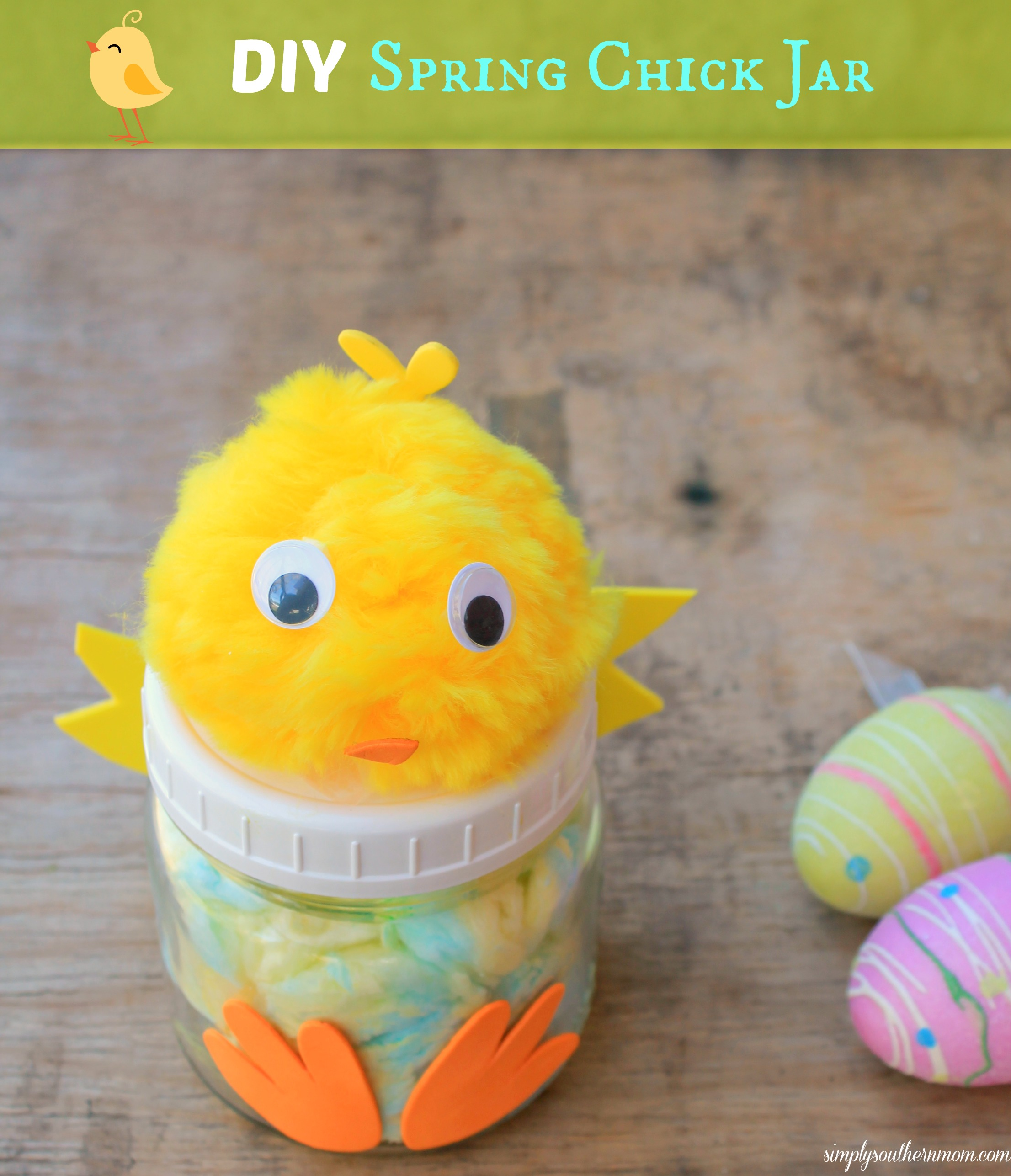 DIY Spring Chick Jar