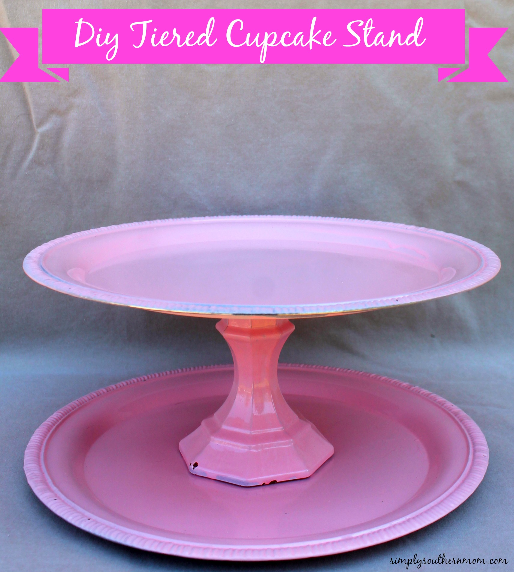 How to make a tiered cupcake stand simply southern mom for How to make a cake stand