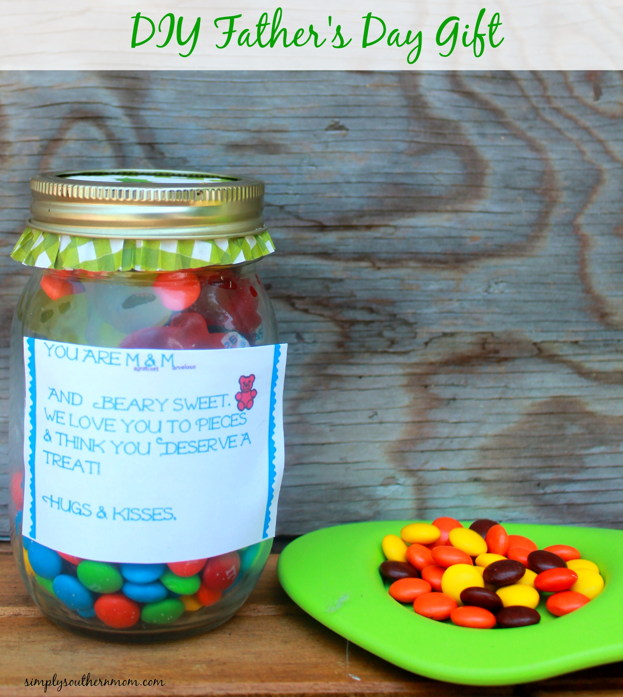 Diy Father S Day Candy Jar Simply Southern Mom