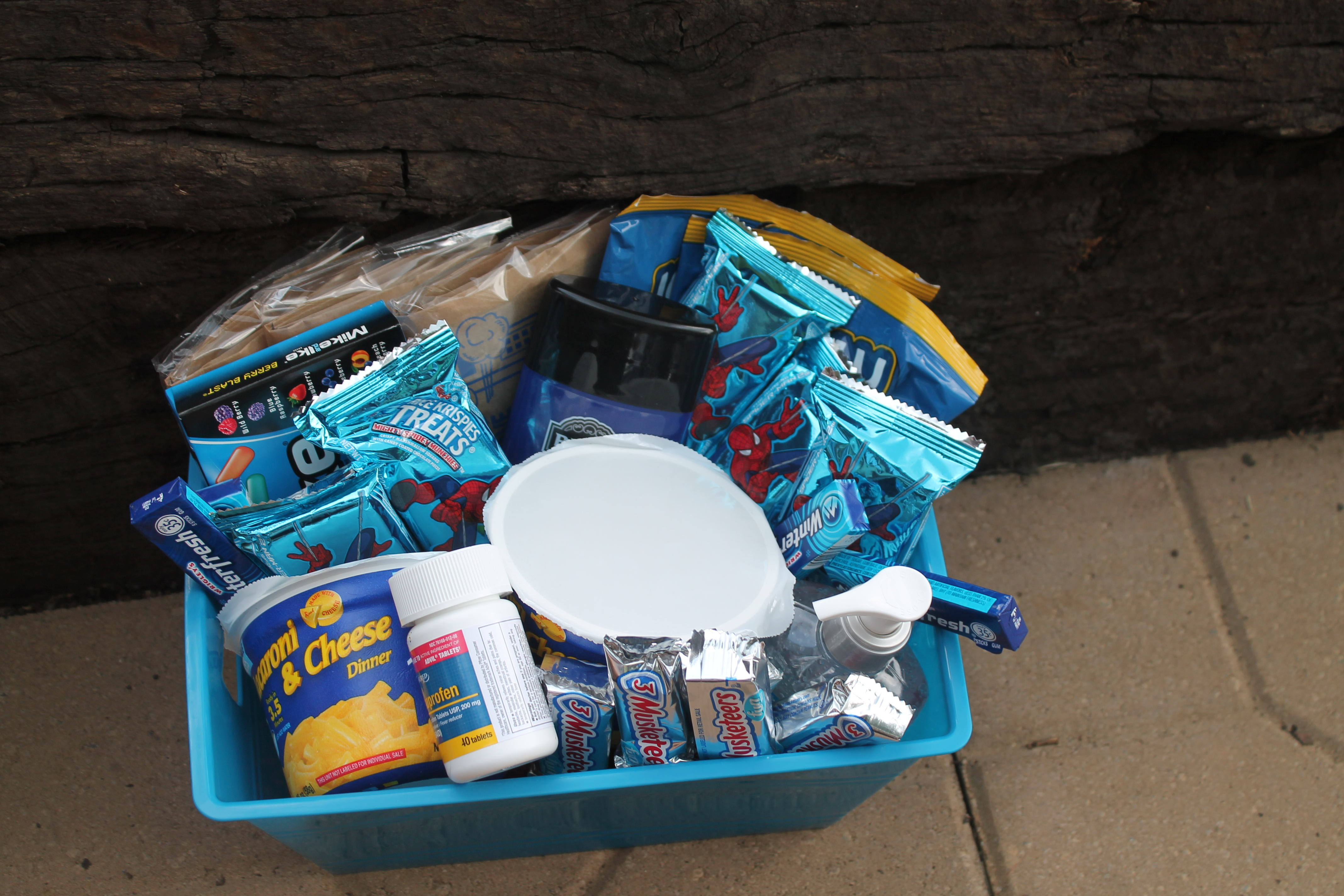 Out of the blue diy college gift basket simply southern mom img2982 negle Gallery