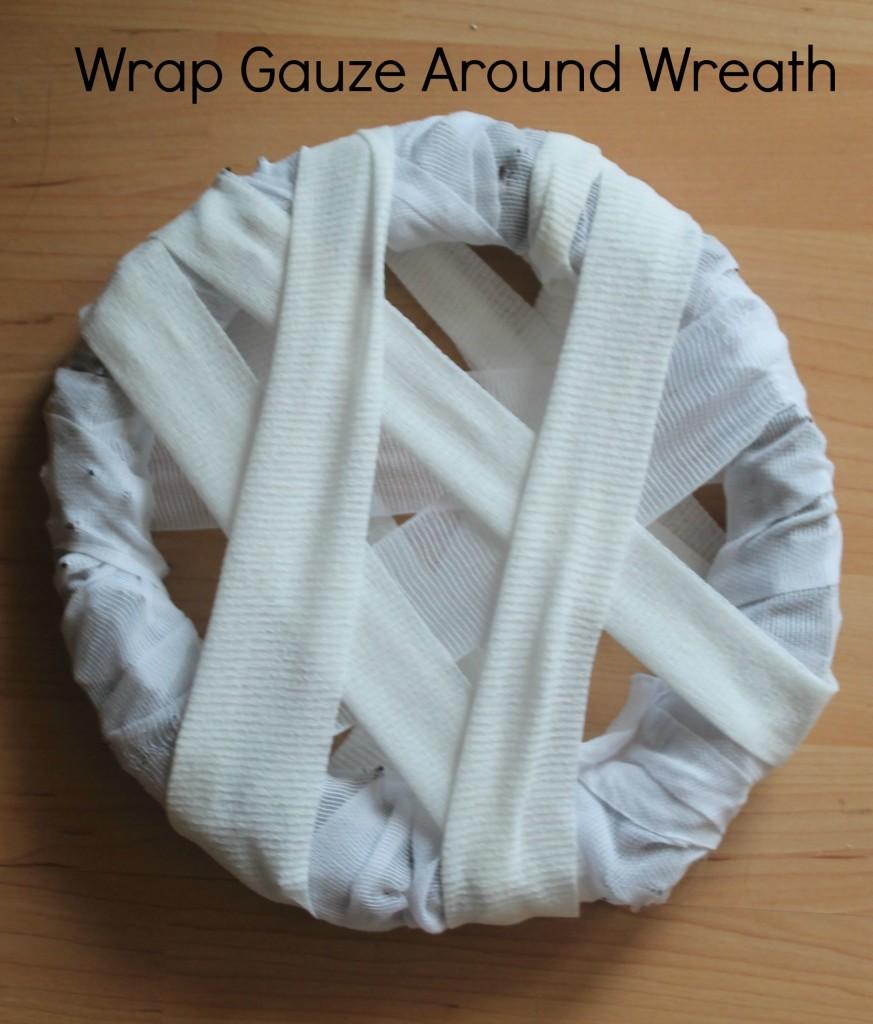 step 1 mummy wreath