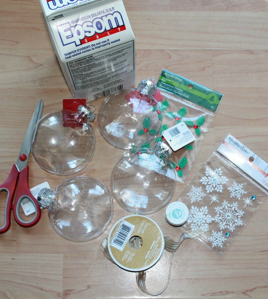 supplies needed snowflake ornaments