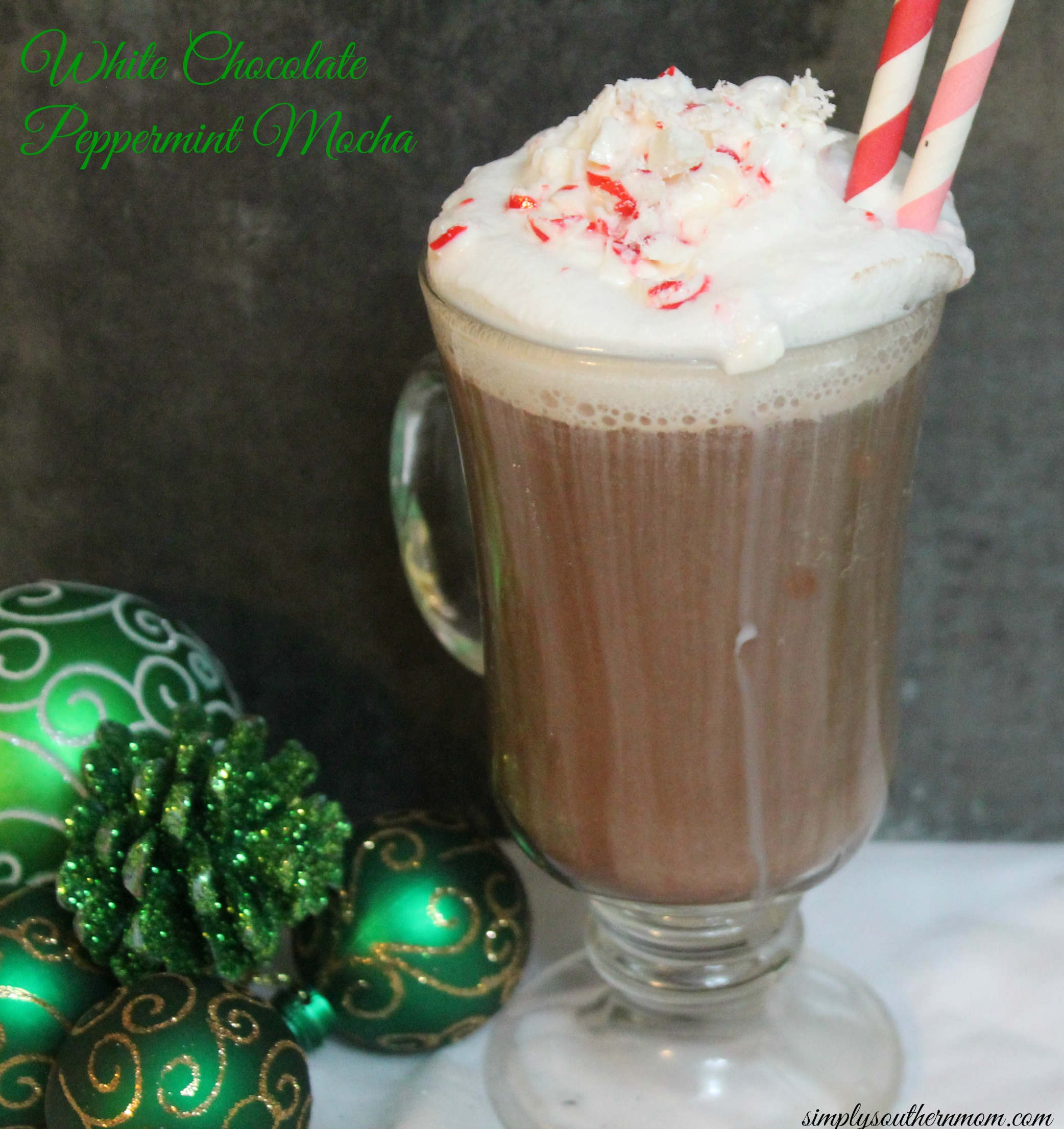 White Chocolate & Peppermint Mocha Coffee Recipe - Simply Southern Mom