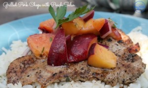 Grilled Pork Chops with Peach Salsa Recipe