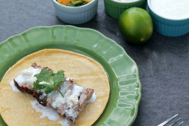 Easy pork tacos recipe avocado mango salsa look for smithfield marinated pork at your local food lion store forumfinder Image collections