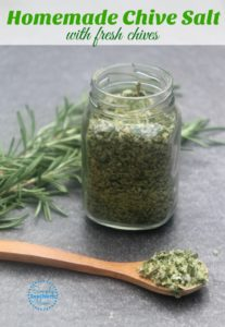 Easy Homemade Chive Sea Salt Recipe