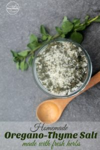 How to Make Fresh Oregano Thyme Salt
