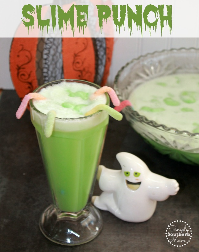 Halloween Themed Birthday Party Food Ideas.Slime Punch Recipe