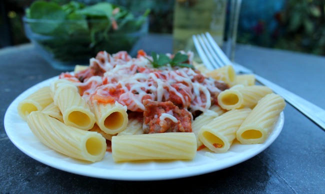 Easy Pasta with Sausage, Cream and Tomatoes Recipe ...