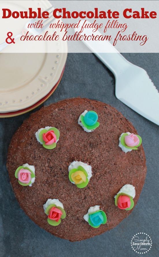 Chocolate cake with fudge filling recipe