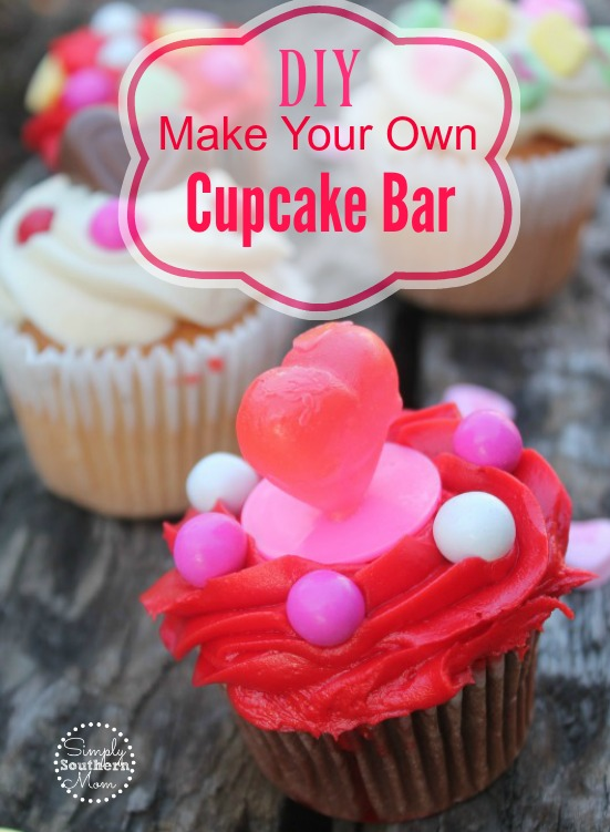 How to Make a Decorate Your Own Valentines Cupcake Bar