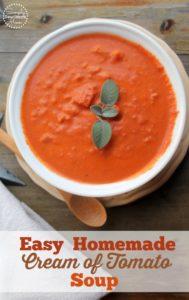 Easy Homemade Cream of Tomato Soup Recipe