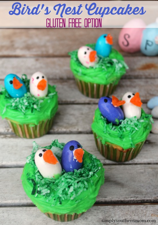 Bird's Nest Cupcakes For Easter