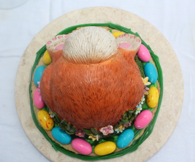 Bunny Butt Easter Cookie Cake