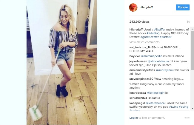 Hillary Duff shows off her #adulting skills.