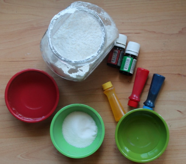 ingredients for aromatherapy finger paint